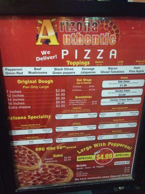 menu cuisine az arizona authentic pizza 14 reviews