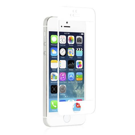 iphone 5s white moshi ivisor glass screen protector for iphone 5s 5c 5