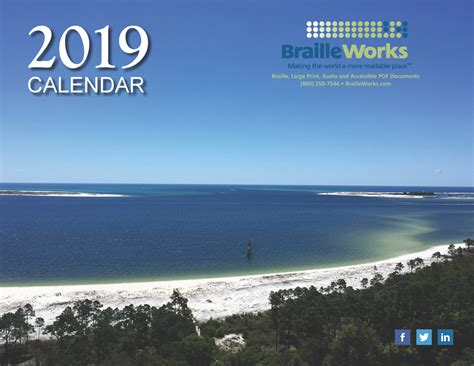 braille calendars attractive accessible braille works