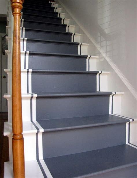 fancy painted stair runners ideas