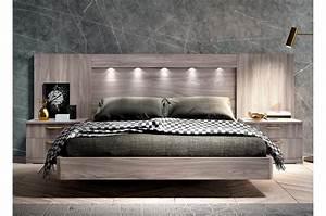 Lit 2 Personnes But : lit adulte 2 places design 160x200 cm t te de lit led ~ Melissatoandfro.com Idées de Décoration