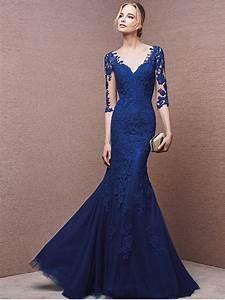 robe de soiree 2016 dentelle bleu roi look111504 eur125 With robe de mariée bleu roi