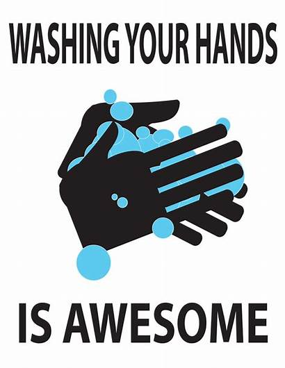 Hands Wash Germs Clipart Stop Washing Step
