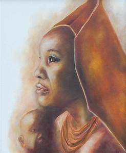 African Mother And Child Painting by Lori Hill