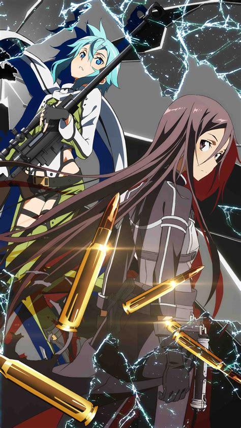 Sword Art Online 2 Kirito Sinon 1080×1920 Kawaii Mobile