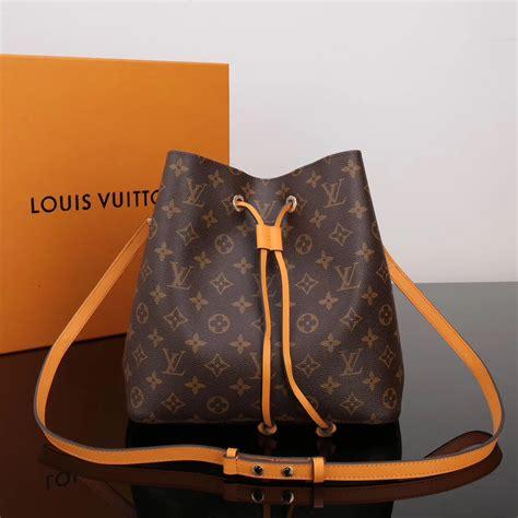 fake designer lv louis vuitton  monogram bag neonoe orange handbag lv