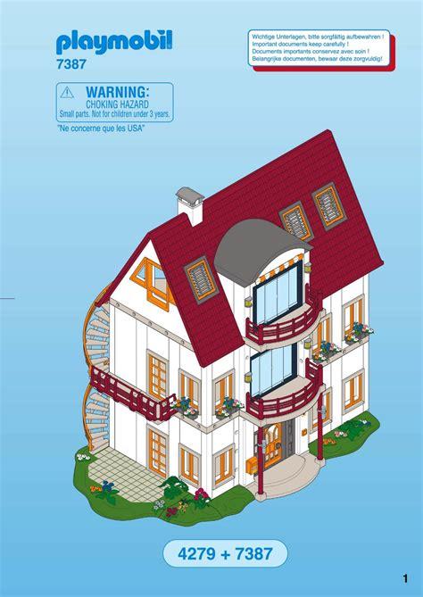 notice playmobil 7387 etage suppl 233 mentaire pour villa moderne a mode d emploi notice 7387