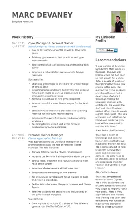 Beginner Personal Trainer Resume Sle by Sap Trainer Resume Sales Trainer Lewesmr