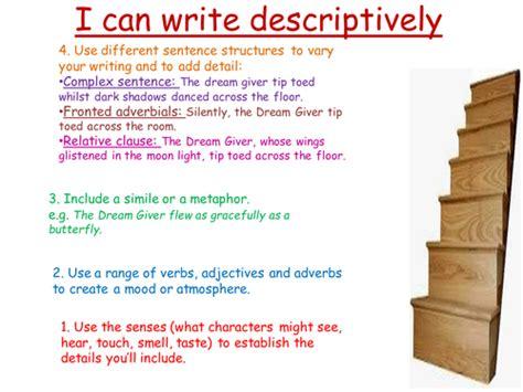 ks english descriptive writing spag
