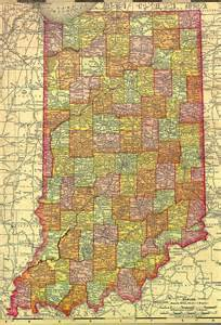 Indiana Map with Counties
