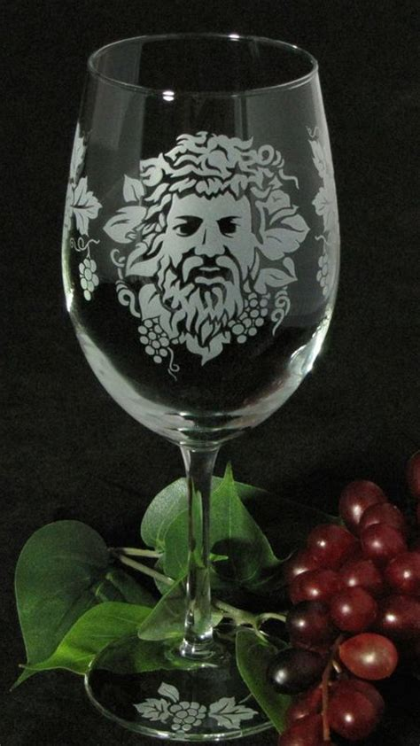 Wine Lovers Wedding Set, Personalized Wine Glasses, Cake Server and Knife with Bacchus Dionysus