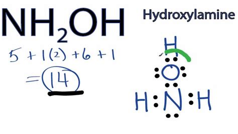 H2co Dot Diagram by Nh2oh Lewis Structure How To Draw The Lewis Structure For