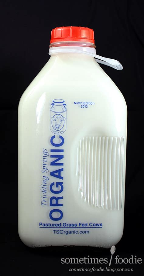 It's best to get your raw milk from a local organic farm to. Sometimes Foodie: Organic Milk -VS- Grocery Store Milk
