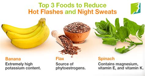 top  foods  reduce hot flashes  night sweats