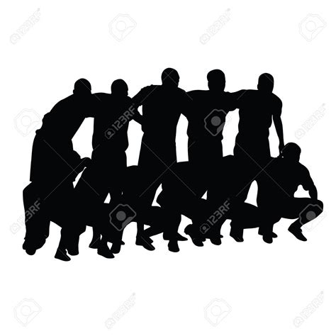 soccer team clipart black and white football team clipart silhouette clipground
