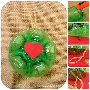 Crea tus adornos navideños reciclando botellas de plástico