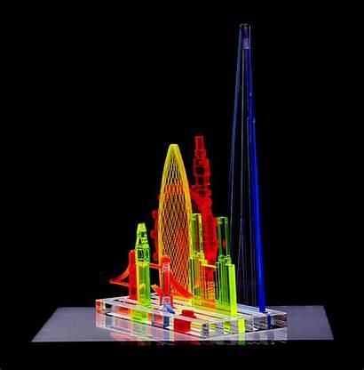 London Sculpture Laser Acrylic Skyline Shapes Modular