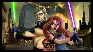 Star Wars Rebels - Luke Skywalker and Mara-Jade by Queen ...