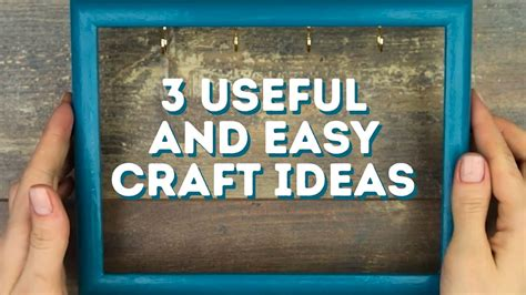 useful craft ideas 3 useful and easy craft ideas l 5 minute crafts 3164