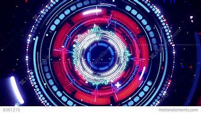 Futuristic Spectrum Animation Circular Analyzer 4k Loopable