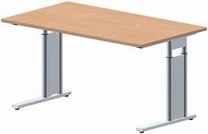 Schreibtisch 80 Cm Lang : schreibtisch style pro 140 x 80 cm c fu gestell mit seitenblende ~ Bigdaddyawards.com Haus und Dekorationen