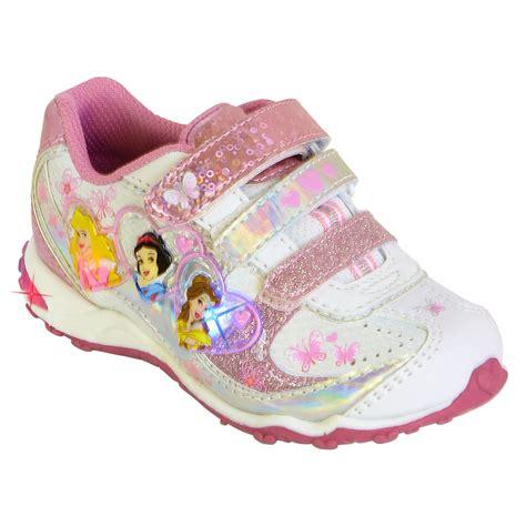 girls light up sandals disney 39 s princess light up athletic shoe