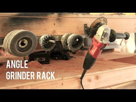 diy angle grinder disk storage rack quick easy