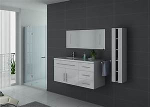 Meuble Simple Vasque : meuble salle de bain mobilier de salle de bain meuble salle de bain 1 vasque urban blanc ~ Teatrodelosmanantiales.com Idées de Décoration