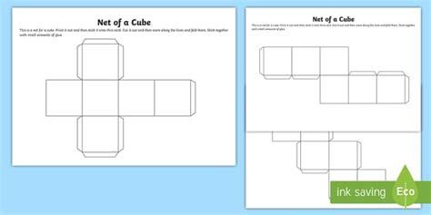 net   cube box template teacher