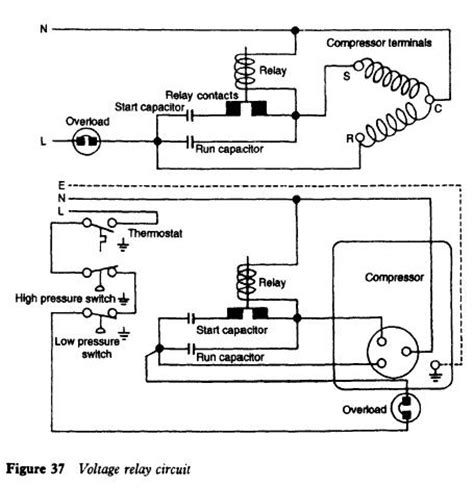 Freezer Start Relay Switch Wiring Diagram by Refrigerator Electrical Equipment And Service