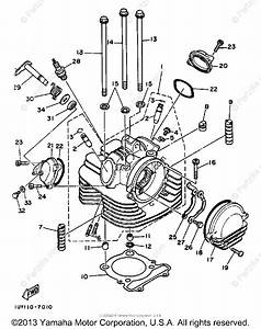 Yamaha Atv 1987 Oem Parts Diagram For Cylinder Head