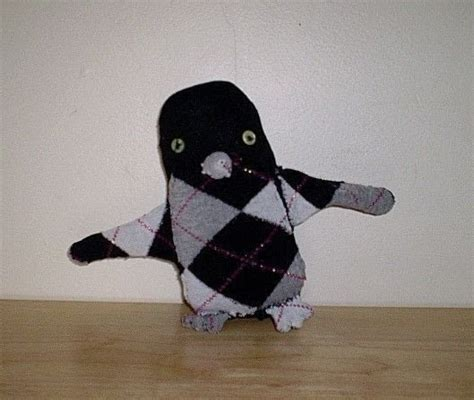 sock penguin  penguin plushie sewing  cut