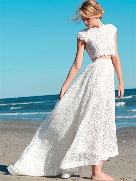 21 Stylish Two Piece Summer-Beach Wedding Dresses
