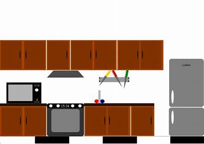 Kitchen Dollhouse Furniture Clipart Printable Paper Clip