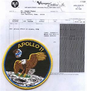 "1969 Apollo 11 4"" patch & bill of sale as COA 