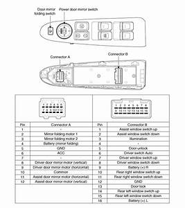 Kia Sportage  Power Door Mirror Switch  Schematic Diagrams
