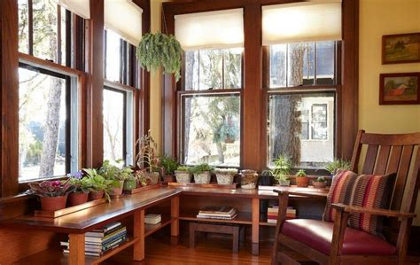 window treatments  craftsman house craftsman interior