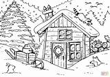 Coloring Winter Hut Pages Village Sketch Printable Ausmalbilder Drawing Print Supercoloring Zum Crafts Ausmalbild sketch template