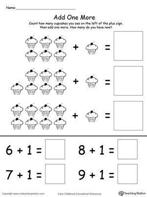 cupcakes printable math worksheets  math