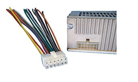 dual car audio 12 pin stereo wire harness radio power