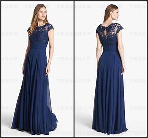 navy blue long wedding guest bridesmaid dresses lace With navy blue dresses for wedding guest