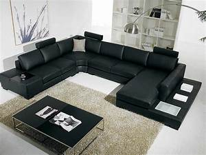 T35 black leather sectional sofa leather sectionals for T35 modern sectional sofa