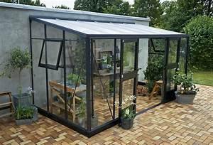 Serre Acier Verre : serre de jardin adoss e en verre ~ Premium-room.com Idées de Décoration