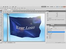 Flag with Logo or Country Mock up YouTube