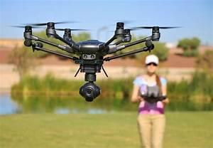 Woman Flying High-Tech Camera Drone (Large File) Stock ...
