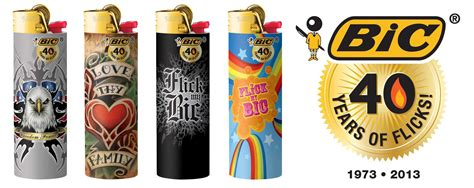 bic lighter designs bic lighters turn 40