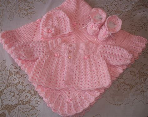 baby blanket pink crochet baby sweater set layette by