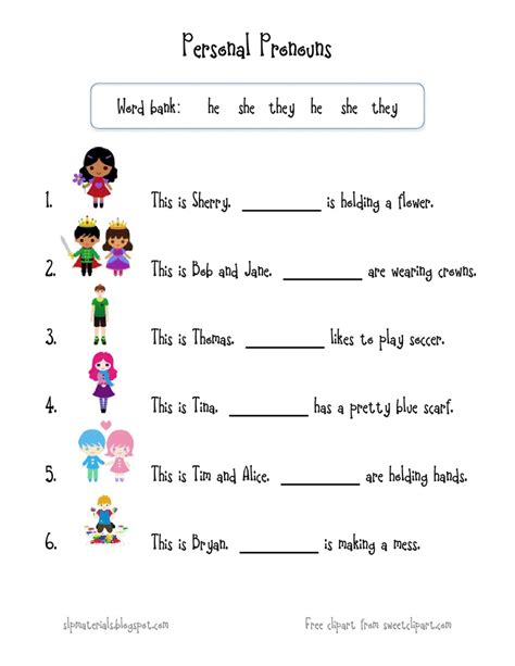 image result for pronouns worksheets grade 1 sai c