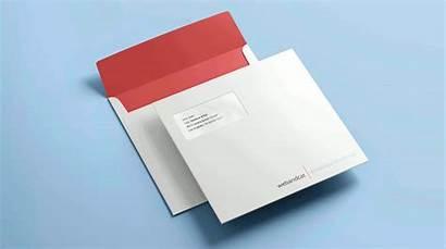 Envelope Mockup Square Template Templates Designs Premium