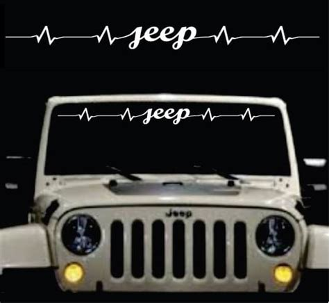 jeep heartbeat jeep heartbeat windshield banner jeep decal sticker